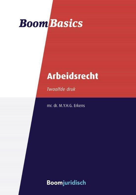 Boek cover Boom Basics - Boom Basics Arbeidsrecht van M.Y.G.H. Erkens (Paperback)