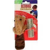 Kong Kat Catnip Bever - Speelmuis - Bruin - 3,8 x 4,5 x 4,2