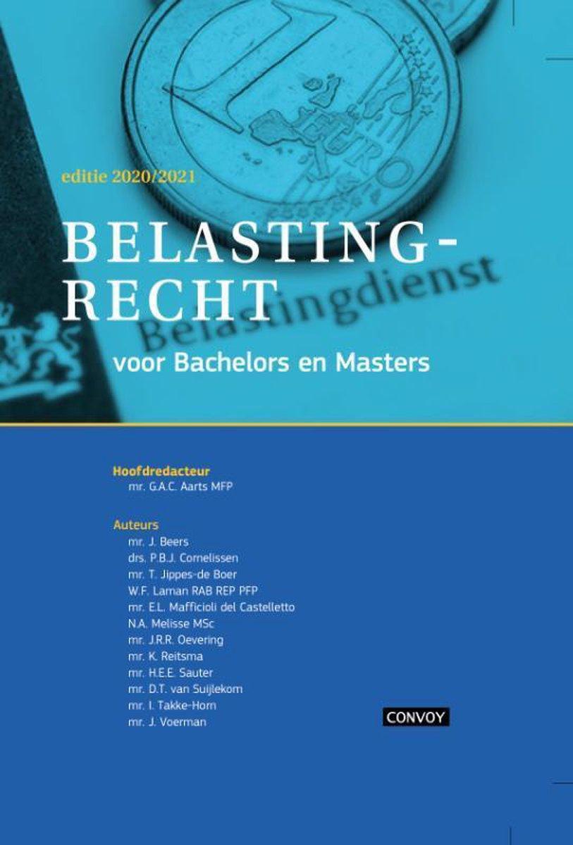 Belastingrecht Bachelors Masters 2020-2021 Theorieboek