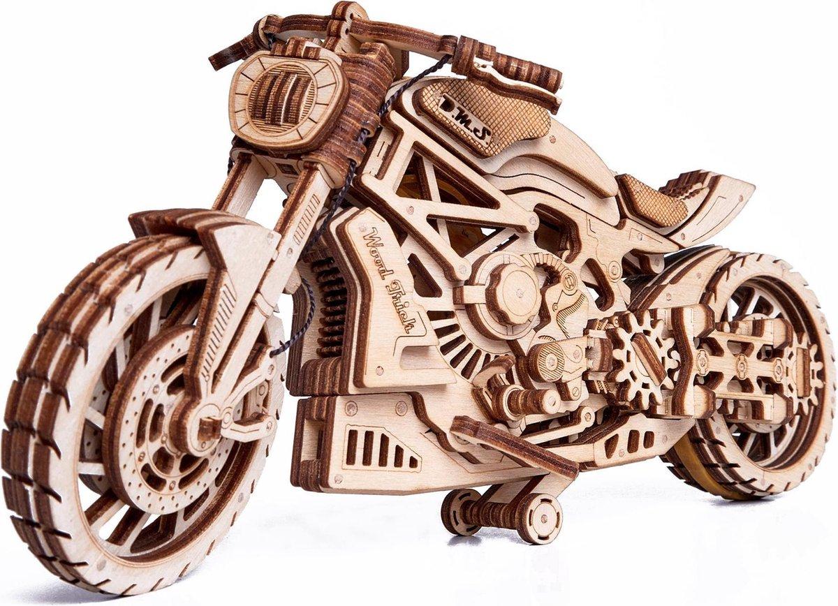 Wood Trick Motorfiets DMS - Houten Modelbouw