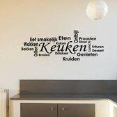 Muursticker Keuken -  Zwart -  120 x 44 cm  - Muursticker4Sale