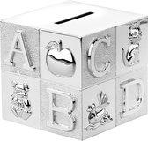 Gift Items - Verzilverde spaarpot kubus