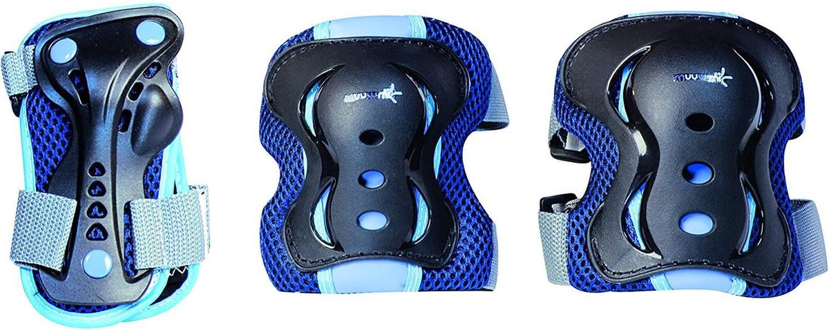 Muuwmi Beschermingsset Blauw 6-delig Maat S