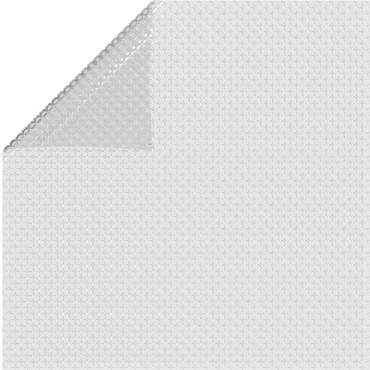 vidaXL Zwembadfolie solar drijvend 260x160 cm PE grijs