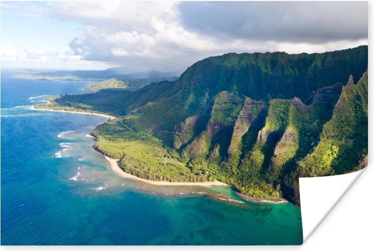 Poster - Hoge rotsen op Kauai - 120x80 cm