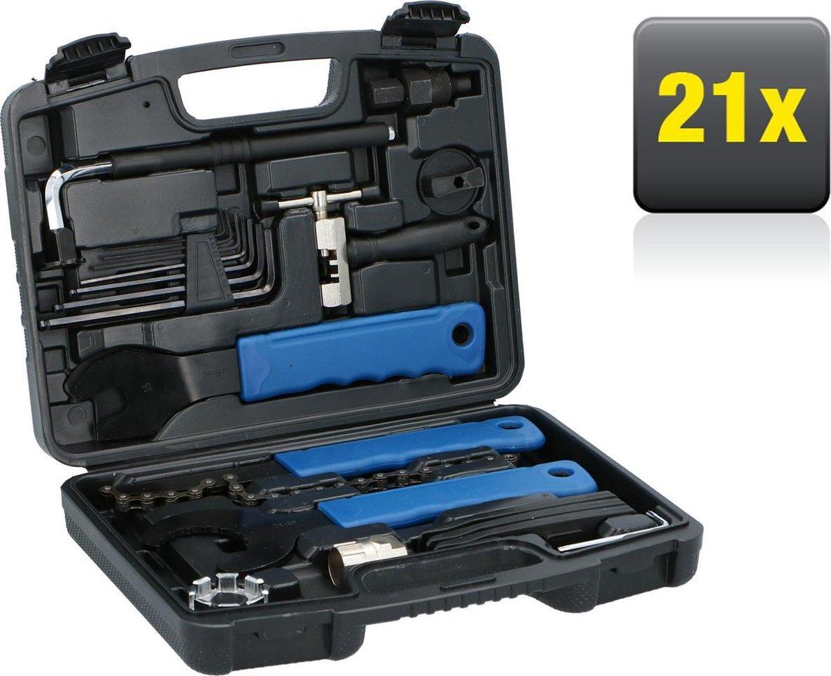 Kinzo Fietsreparatieset - 20-Delig - in Handige Koffer