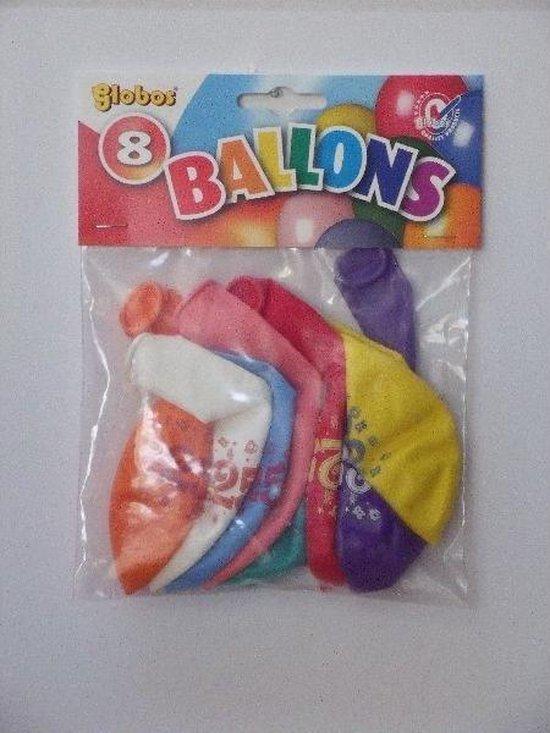 Ballonnen cijfer 25 no. 12 eenzijdig 1 zakje met 8 stuks