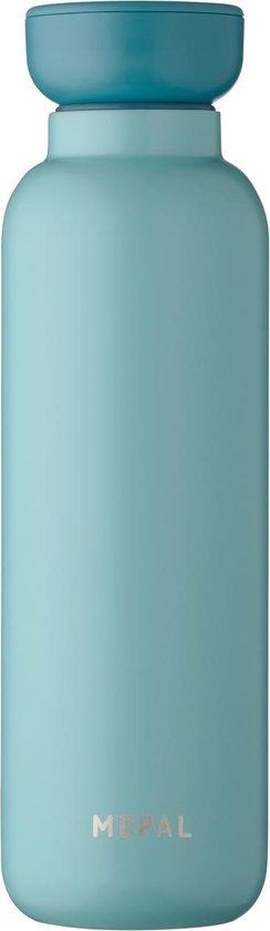 Mepal – Isoleerfles Ellipse 500 ml – houdt je drankje 12 uur warm en 24 uur koud – Nordic green – Geschikt voor bruiswater – Thermosfles – lekdicht