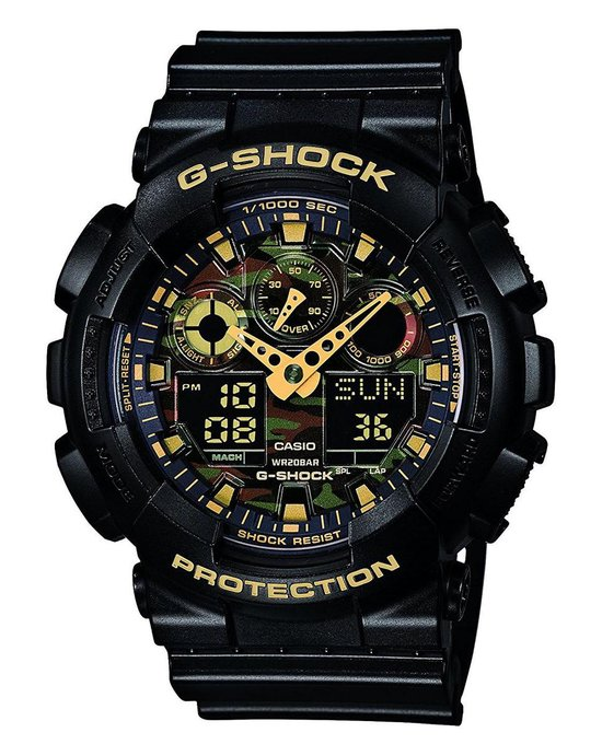 Casio G-Shock GA-100CF-1A9ER Heren Horloge - 51 mm