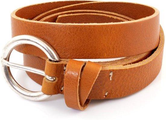 Cowboysbelt Damesriem Smalle 259132 – Cognac – 90 cm