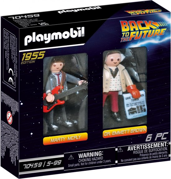 PLAYMOBIL Back To The Future DuoPack Marty McFly & Dr. Emmet Brown - 70459