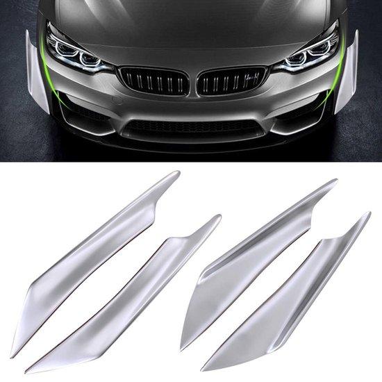 4 STUKS Auto-Styling Flank Decoratieve Sticker (zilver)