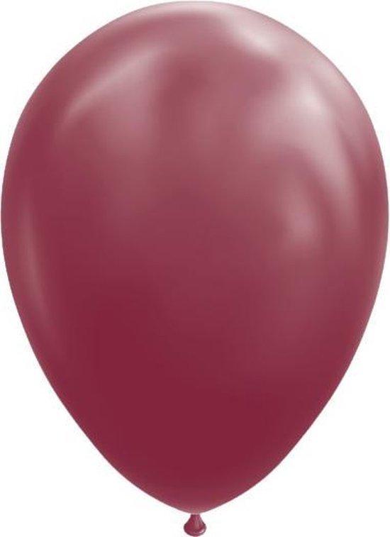 Globos Ballonnen 30 Cm Latex Bordeauxrood 10 Stuks