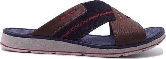 Rohde Heren Slippers 5980 Blauw Bruin