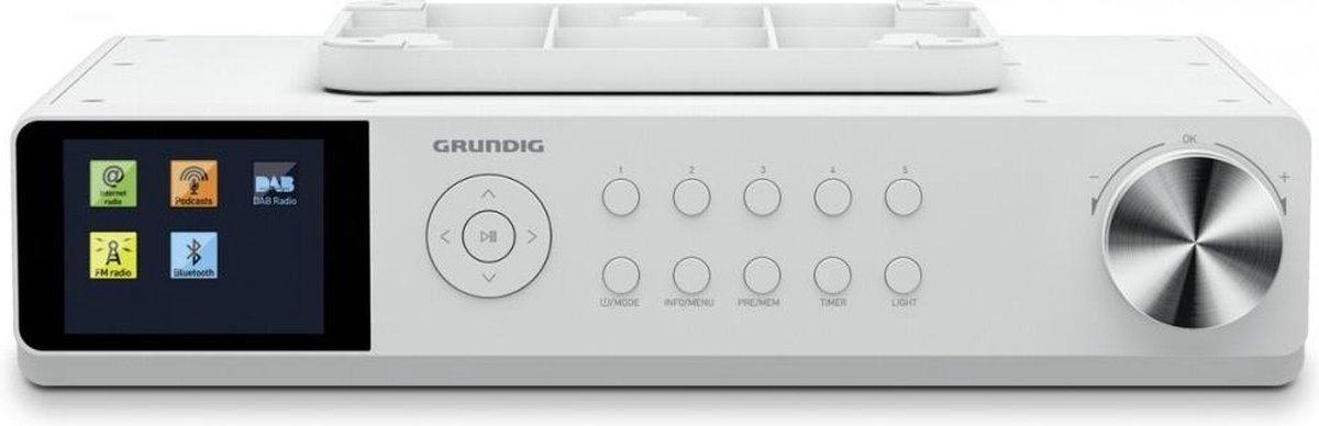 Grundig DKR 3000 BT radio Werkplek Digitaal Wit