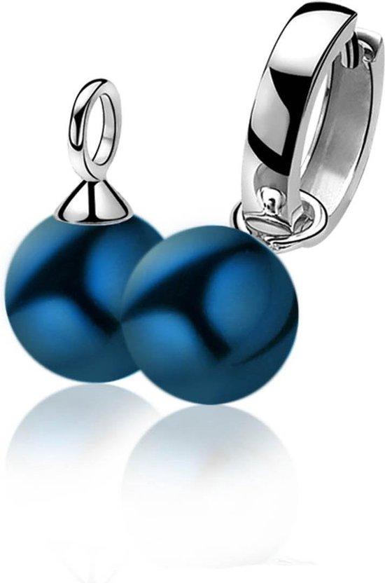 Zinzi Silver Jewels Blue Pearl oorringhangers ZICH266B