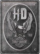 Harley-Davidson Eagle Metalen Bord 30 x 40 cm