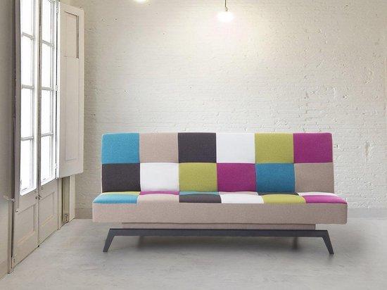 Beliani LEEDS - Slaapbank - multicolor - polyester - Beliani