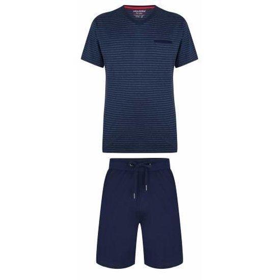 Pastunette heren Mix and Match pyjama shirt korte mouw Rob M Grijs