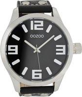 OOZOO Timepieces C1004 - Horloge - 50 mm - Leer - Zwart