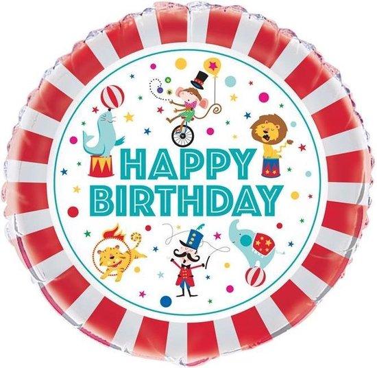 "Haza Original Folieballon ""happy Birthday"" Circus 45 Cm"