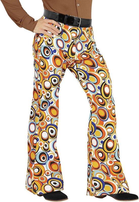 Hippie Kostuum | Groovy Gandalf 70s Heren Broek, Luchtbellen Man | XXL | Carnaval kostuum | Verkleedkleding