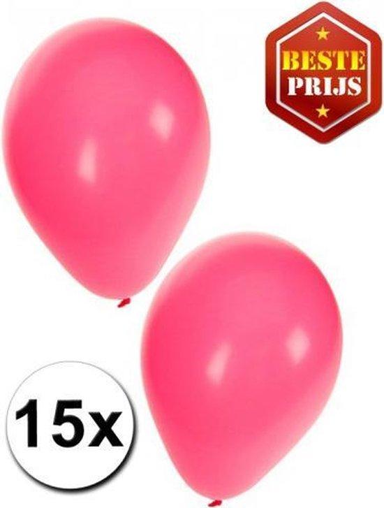 30x ballonnen - 27 cm -  roze / lichtroze versiering