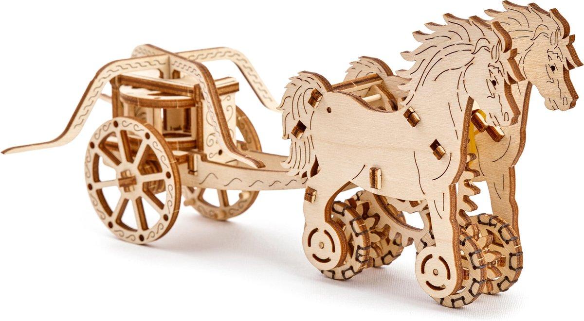 Wooden City Modelbouw Hout Wagen van Da Vinci