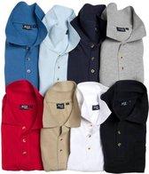 Poloshirt met knoopsluiting en borstzak marineblauw maat XXXL