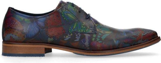 Sacha - Heren - Veterschoenen met gekleurde vlinder print - Maat 44