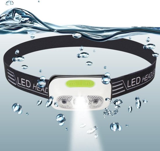 Fjordstadt Hoofdlamp - LED - USB Oplaadbaar - Waterdicht