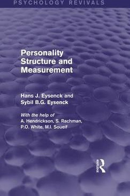 Boek cover Personality Structure and Measurement (Psychology Revivals) van Hans J. Eysenck (Onbekend)