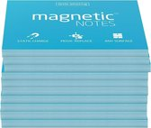 Magnetic Notes, set van 10 notitieboekjes maat M (100x74mm)x100 sheets Blauw