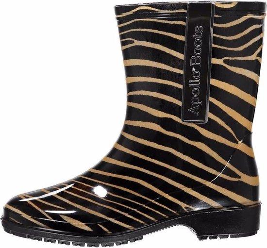 | Halfhoge damesmeiden regenlaarzen zebra print
