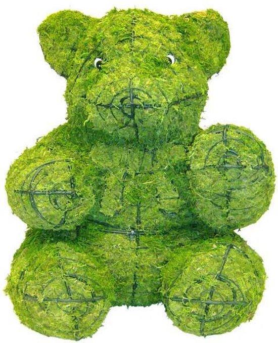 Tuinbeeld -  Beer Zittend Teddy - Mos