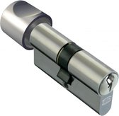 DOM Deurcilinder Plura 333K6 SKG** 30,5/30,5mm (1 zijde knop, 1 zijde sleutel).