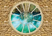 Fotobehang Stone Wall Nature | XXL - 312cm x 219cm | 130g/m2 Vlies