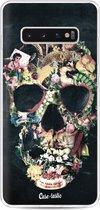 Samsung Galaxy S10 Plus hoesje Vintage Skull Casetastic Smartphone Hoesje softcover case