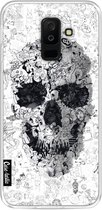 Samsung Galaxy A6 Plus (2018) hoesje Doodle Skull BW Casetastic Smartphone Hoesje softcover case