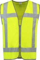 Tricorp - Veiligheidsvest RWS Rits - 453019 - fluor geel - maat M-L