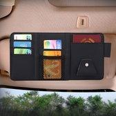 Universele Auto Zonneklep Board Papier Tissue Box CD Storage Case Houder Card Bag Organizer (Zwart)