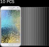 Let op type!! 10 stuks voor Galaxy E7 / E700 0 26 mm 9H oppervlaktehardheid 2.5D explosieveilige getemperd glas scherm Film