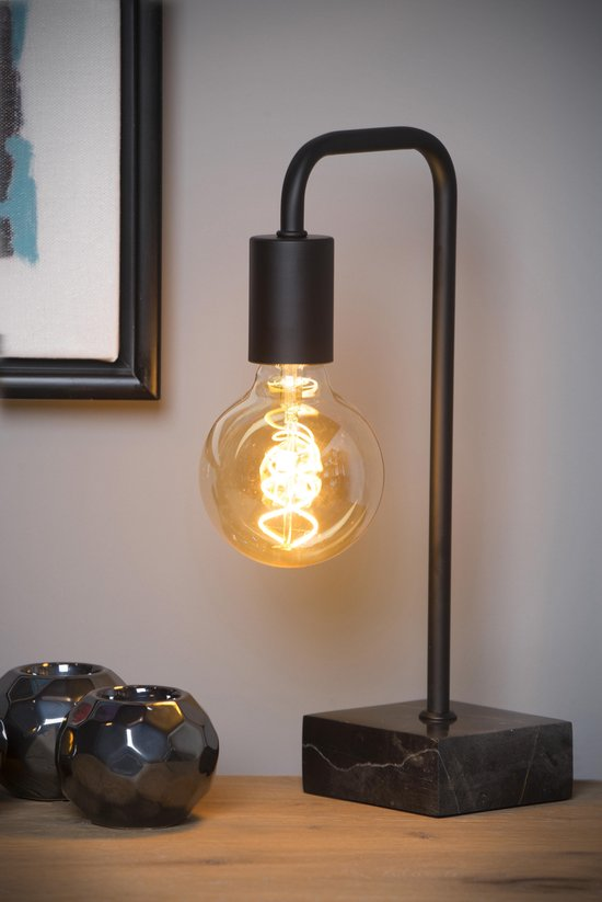 Lucide LORIN Tafellamp - E27 - Zwart