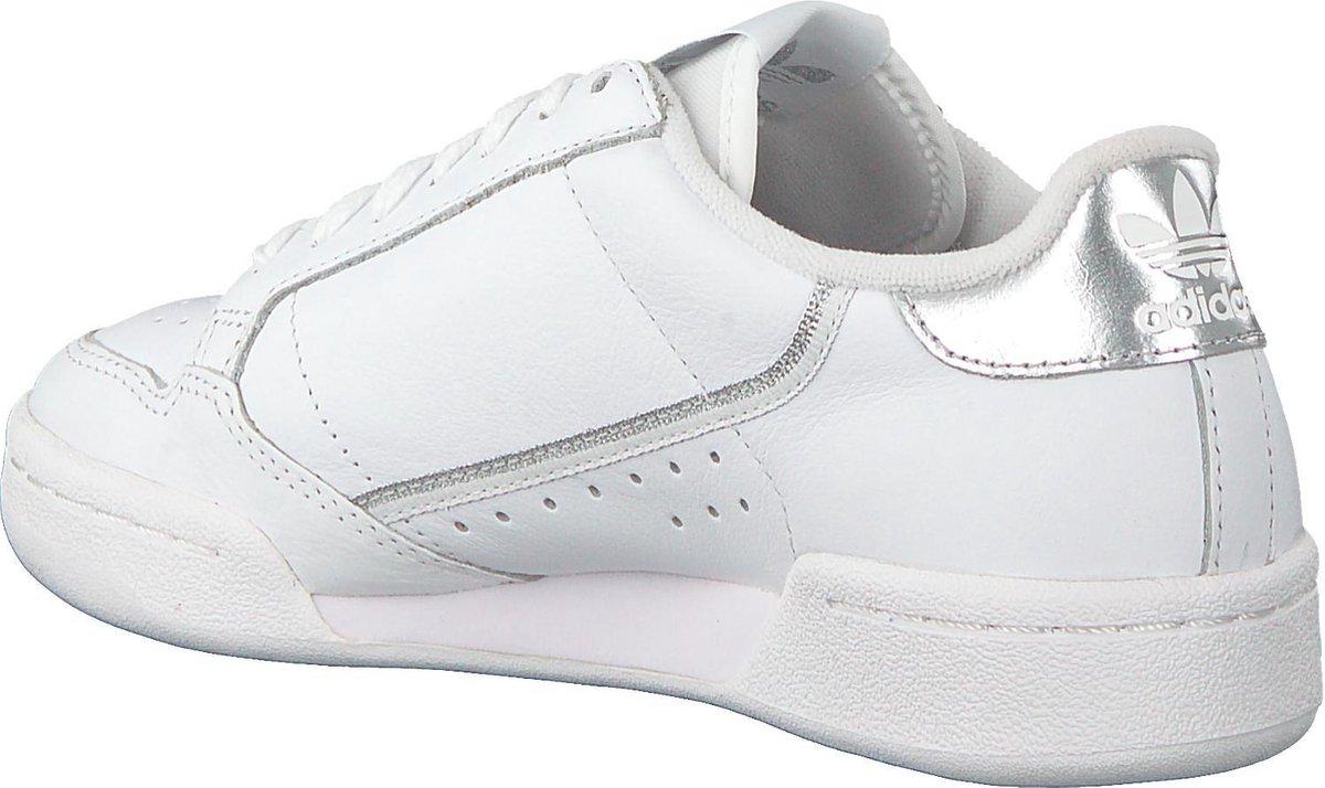 adidas Continental 80 W Dames Sneakers - Cloud White/Cloud White/Silver Met. - Maat 39 1/3 Sneakers