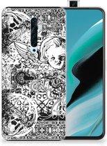 Silicone Back Case OPPO Reno2 Z Skulls Angel