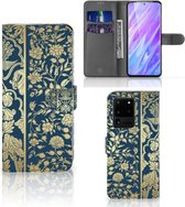 Flip Case Samsung Galaxy S20 Ultra Hoesje Golden Flowers