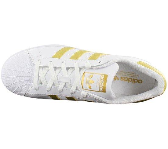 adidas Originals Superstar BY8757 - Dames Sneakers Schoenen Sportschoenen  Wit-Goud - Maat EU 36 UK 3.5
