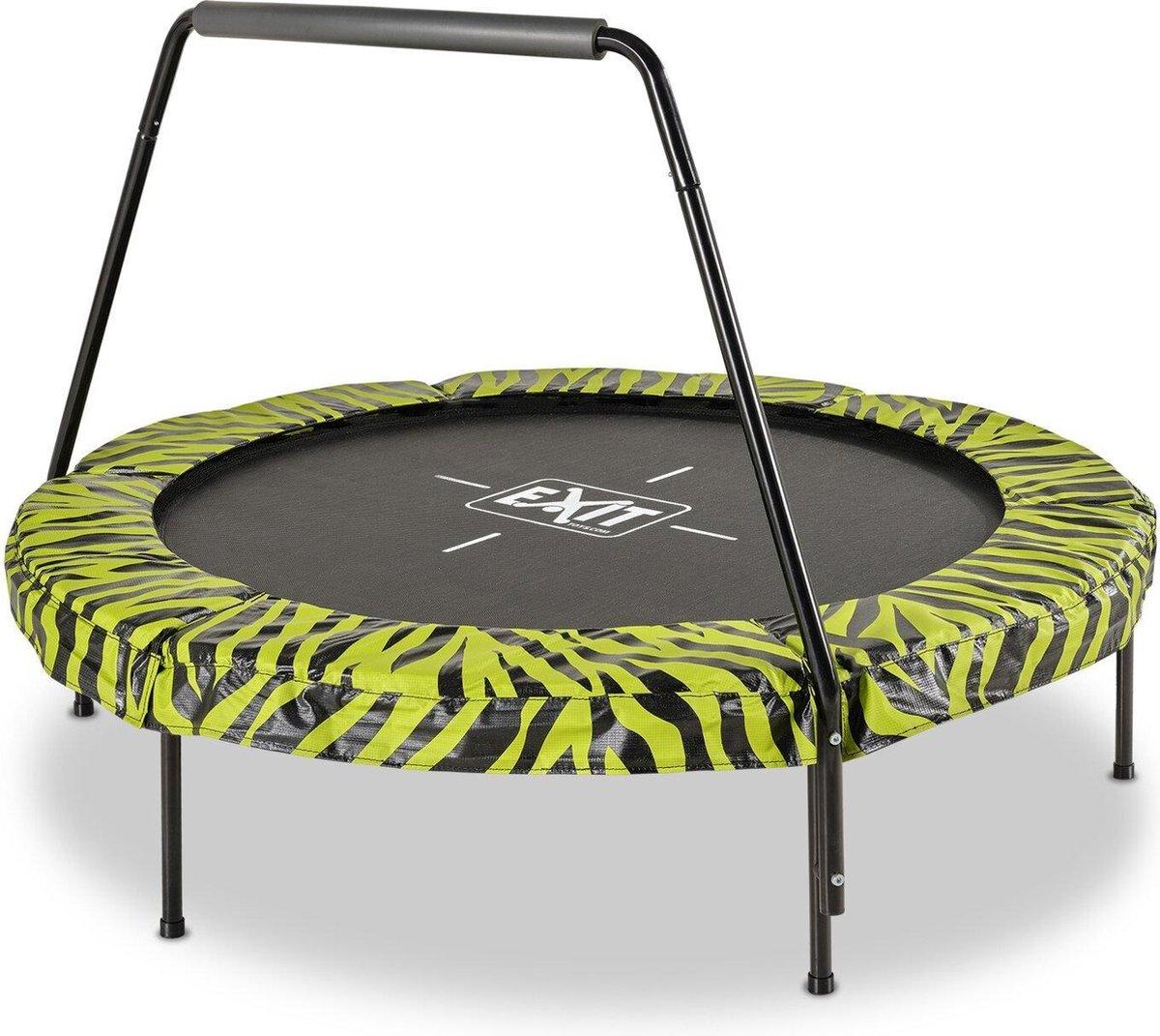 EXIT Tiggy junior trampoline met beugel ø140cm - zwart/groen