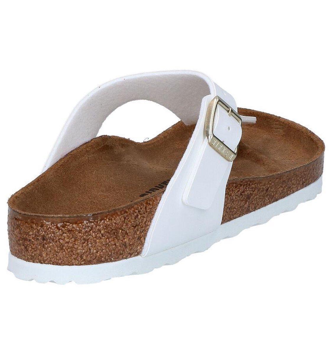 Birkenstock Gizeh Dames Slippers Wit Maat 43