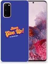 Samsung Galaxy S20 Siliconen hoesje met naam Never Give Up